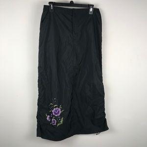 GAP Maxi Windbreaker Skirt Velcro Closure Sz M